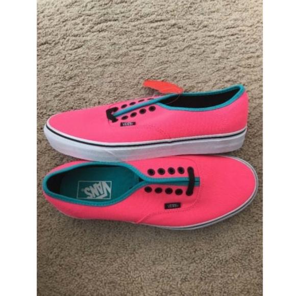 a540346a047d70 VANS Authentic (Brite) Neon Pink Black Skate Shoe